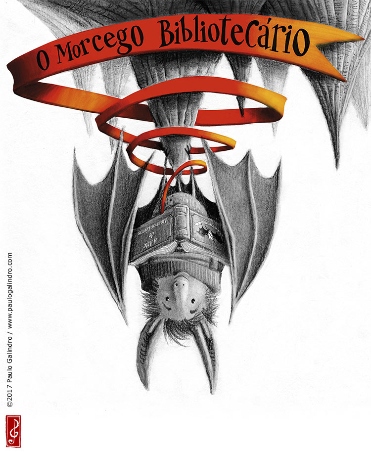 "Giclée Prints of the book illustration's ""The librarian bat"""