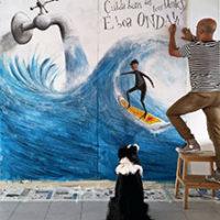 """Execução da ilustração """"Uma boa onda"""""""