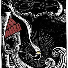 """Impressões Giclée de """"Pirilampo: O velho pescador de estrelas"""""""