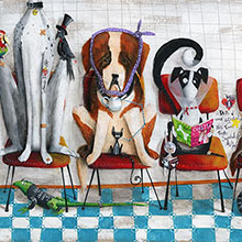 Uma ilustração para uma clínica veterinária