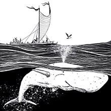 """Giclée prints of """"The story of a white Whale"""""""